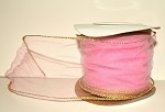 Rosy Mauve Wired Tulle with Gold Edge (3